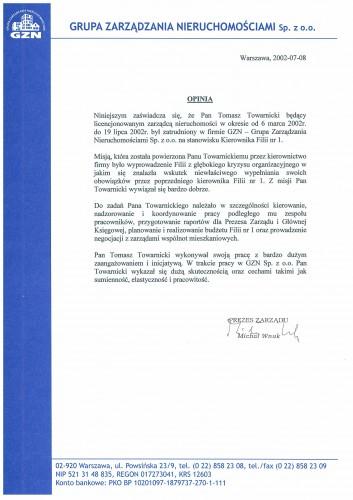 Referencje - Zarządzanie nieruchomościami - GZN Sp. z o.o.